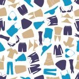 Van de de kledingskleur van vrouwen het patroon eps10 Stock Afbeelding