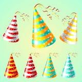 Van de de kleuren carnaval vakantie van GLB holyday de partijvector Stock Foto