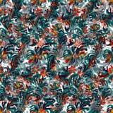 Van de de kleuren vectorillustratie van bloembloemblaadjes behang als achtergrond stock illustratie