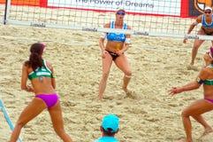 2015 van de de Klierslag van Moskou het Volleyball van het de Toernooienstrand Royalty-vrije Stock Afbeeldingen