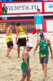 2015 van de de Klierslag van Moskou het Volleyball van het de Toernooienstrand Royalty-vrije Stock Foto
