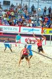 2015 van de de Klierslag van Moskou het Volleyball van het de Toernooienstrand Stock Afbeeldingen