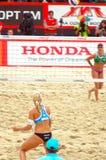 2015 van de de Klierslag van Moskou van het de Toernooienstrand het Volleyball H Royalty-vrije Stock Fotografie