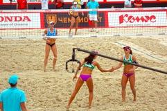 2015 van de de Klierslag van Moskou van het de Toernooienstrand het Volleyball H Royalty-vrije Stock Afbeelding
