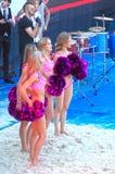 2015 van de de Klierslag van Moskou van het de Toernooienstrand kan het Volleyball Rusland Moskou 31 2015 Stock Afbeeldingen