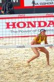 2015 van de de Klierslag van Moskou van het de Toernooienstrand kan het Volleyball Rusland Moskou 31 2015 Royalty-vrije Stock Foto's