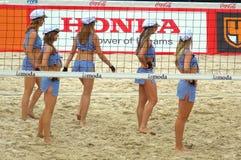 2015 van de de Klierslag van Moskou van het de Toernooienstrand kan het Volleyball Rusland Moskou 31 2015 Stock Foto's