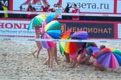 2015 van de de Klierslag van Moskou van het de Toernooienstrand kan het Volleyball Rusland Moskou 31 2015 Royalty-vrije Stock Afbeelding