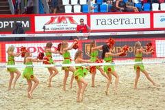 2015 van de de Klierslag van Moskou van het de Toernooienstrand kan het Volleyball Rusland Moskou 31 2015 Stock Afbeelding
