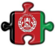 Van de de knoopvlag van Afghanistan het raadselvorm Stock Afbeelding