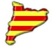 Van de de knoopvlag van Catalonië de kaartvorm Stock Afbeeldingen