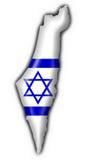 Van de de knoopvlag van Israël de kaartvorm vector illustratie