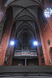 Van de de koepelkathedraal van Frankfurt het orgaanarchitectuur Stock Afbeelding