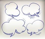 Van de de krabbeltoespraak van de schets de reeks van de de wolkenillustratie royalty-vrije illustratie
