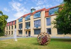 Van de de kunstarchitectuur van Weimarbauhaus Universitaire Unesco Duitsland Stock Foto's