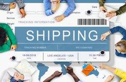Van de de Ladingsvracht van de logistieklevering de Verzendingsconcept Stock Afbeeldingen