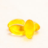 Van de de leverolie van de kabeljauw omega 3 het gelcapsules Royalty-vrije Stock Foto's