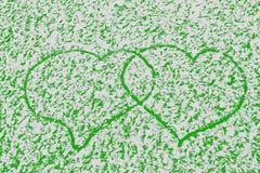 Van de de loyaliteitswinter van het liefdehart de koude achtergrond op de Dag van Valentine Stock Foto's