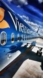 Van de de luchtvaartlijnenluchtvaart van Vietnam de vliegtuigenreis Stock Fotografie
