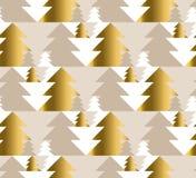 Van de de luxepastelkleur van de Kerstmisboom het naadloze patroon Stock Foto