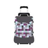 Van de de manierbagage of bagage van het reistoerisme de vakantie behandelt de aktentas van de leer grote verpakking en het geval Stock Afbeelding