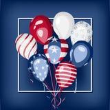 Van de de nationale feestdagviering van de V.S. het vectorontwerp Stock Fotografie