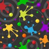 Van de de neveltextuur van het plons bevlekken de naadloze patroon donkere kleurrijke hand getrokken vlekken van de de vlekkenkun stock illustratie