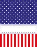 Van de de Onafhankelijkheidsdag van de V.S. de kaartvector Stock Fotografie