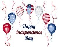 Van de de Onafhankelijkheidsdag van de V.S. de vierings vectorontwerp Stock Fotografie