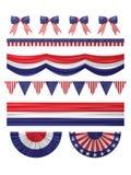 Van de de onafhankelijkheidsdag van de V.S. geplaatste de decoratiegrenzen vector illustratie