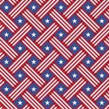 Van de de Onafhankelijkheidsdag van de V.S. het naadloze patroon Royalty-vrije Stock Afbeeldingen