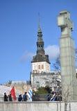 Van de de Onafhankelijkheidsdag van Estland de Parade 2017 Stock Fotografie