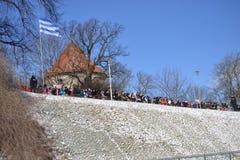 Van de de Onafhankelijkheidsdag van Estland de Parade 2017 Stock Foto