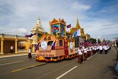 Van de de Onafhankelijkheidsdag van Kambodja de Zilveren Pagode van Royal Palace Royalty-vrije Stock Afbeelding