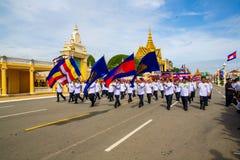 Van de de Onafhankelijkheidsdag van Kambodja de Zilveren Pagode van Royal Palace Stock Foto