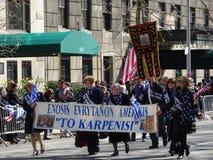 Van de de Onafhankelijkheidsdag van NYC Grieks de Parade 2016 Deel 2 81 Royalty-vrije Stock Fotografie