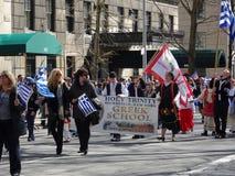 Van de de Onafhankelijkheidsdag van NYC Grieks de Parade 2016 Deel 2 95 Royalty-vrije Stock Afbeelding