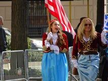 Van de de Onafhankelijkheidsdag van NYC Grieks de Parade 2016 Deel 3 4 Stock Fotografie