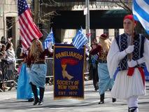 Van de de Onafhankelijkheidsdag van NYC Grieks de Parade 2016 Deel 3 7 Stock Foto