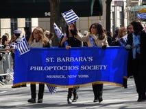 Van de de Onafhankelijkheidsdag van NYC Grieks de Parade 2016 Deel 3 22 Royalty-vrije Stock Foto's