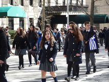 Van de de Onafhankelijkheidsdag van NYC Grieks de Parade 2016 Deel 4 25 Stock Afbeeldingen