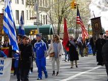 Van de de Onafhankelijkheidsdag van NYC Grieks de Parade 2016 Deel 5 66 Stock Afbeeldingen