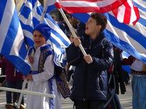 Van de de Onafhankelijkheidsdag van NYC Grieks de Parade 2016 Deel 5 74 Stock Fotografie