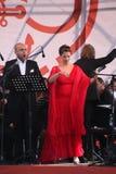 Van de de operaster van het operaduo Italiaanse caputo van Aldo, teneur, schillaci (La-scala, Italië) discant en van Daniela, op  Stock Afbeeldingen