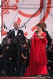 Van de de operaster van het operaduo Italiaanse caputo van Aldo, teneur, schillaci (La-scala, Italië) discant en van Daniela, op  Stock Foto's