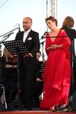 Van de de operaster van het operaduo Italiaanse caputo van Aldo, teneur, schillaci (La-scala, Italië) discant en van Daniela, op  Stock Fotografie
