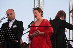 Van de de operaster van het operaduo Italiaanse caputo van Aldo, teneur, schillaci (La-scala, Italië) discant en van Daniela, op  Royalty-vrije Stock Afbeelding