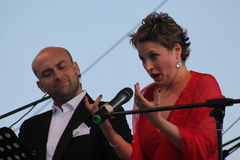 Van de de operaster van het operaduo Italiaanse caputo van Aldo, teneur, schillaci (La-scala, Italië) discant en van Daniela, op  Royalty-vrije Stock Foto's