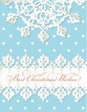 Van de de origamisneeuwvlok van Kerstmis de vectorachtergrond Royalty-vrije Stock Foto's