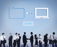 Van de de Overdrachtsynchronisatie van opslag Online Gegevens Informatietechnologie Concept royalty-vrije stock afbeeldingen